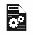Web setting icon simple style vector image vector image