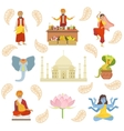 Yoga Taj Mahal And Other Indian Cultural Symbol vector image