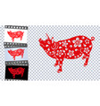 zodiac of the pig the chinese pig of the new year vector image vector image