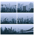 industrial city with foctories and oil-towers set vector image