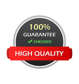 Hundred Percent Guarantee Colorful Labels vector image