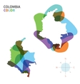 Abstract color map of Colombia vector image