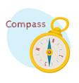 retro style compass cartoon vector image