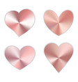 a set pink hearts vector image