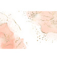 abstract dusty blush liquid marbled watercolor vector image
