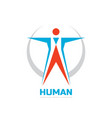 abstract human character - business logo vector image vector image