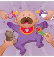 baby cartoon vector image vector image