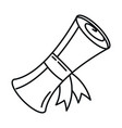 back to school scroll certificate graduation vector image