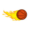 basketball ball with a fire effect