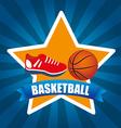 basketball league design vector image