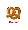 Bavarian twisted pretzel in cartoon style vector image