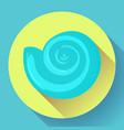 blue sea shell flat logo seafood flat icon vector image vector image