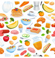 breakfast seamless vector image