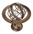 bronze sculpture on white background vector image vector image