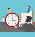 business people clock book vector image vector image