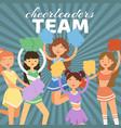 cheerleading team cheerleader vector image