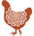chicken mandala symbol vector image vector image