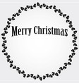 christmas circular frame with black bells vector image vector image