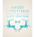 Christmas greeting card geometric deer vector image vector image