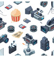 cinematograph isometric elements pattern or vector image vector image