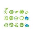 collection environment logo vector image