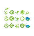 collection of environement logo vector image vector image