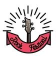 Color vintage rock emblem vector image vector image