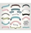 Colorful Hand Drawn Ribbons Banners Set vector image vector image