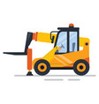 construction equipment factory forklift vector image
