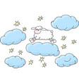 counting sheep to fall asleep vector image vector image