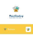 creative photography logo design flat color logo vector image