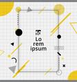 creative template rectangle frame border yellow vector image vector image