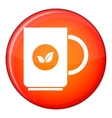 Cup of tea icon flat style vector image vector image