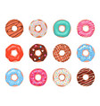 donuts doughnuts in colorful glaze kids sweets vector image vector image