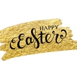 Easter lettering on gold texture vector image vector image