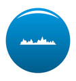 equalizer icon blue vector image vector image