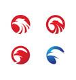 falcon wing logo template vector image vector image