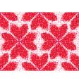 flower seamless love pattern geometric heart vector image