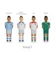 Football teams Group F - Argentina Bosnia and vector image