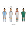 football teams group f - argentina bosnia vector image vector image