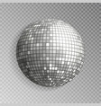 glitter disco ball silver mirrorball isola vector image