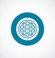 globe icon bold blue circle border vector image vector image