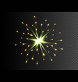 gold star with sparkles bengal fire vector image vector image