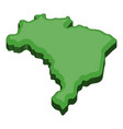 green map of brazil icon cartoon style vector image vector image