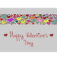 Hand-drawn Valentines Day decorative background vector image