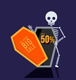 happy halloween sale promotion banner special vector image