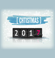 happy new year blue background with snowflakes vector image vector image