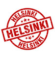 helsinki red round grunge stamp vector image vector image