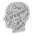 How to Survive as a Primary Caregiver text vector image vector image
