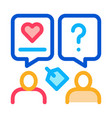 human discussing icon outline vector image vector image